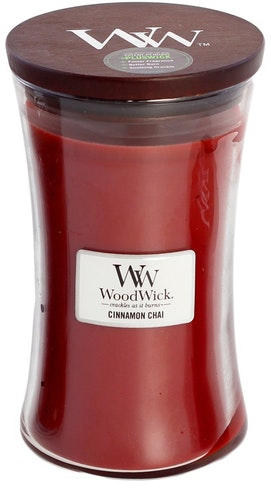 WOODWICK - CINNAMON CHAI - STORT DOFTLJUS