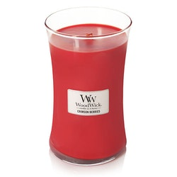 WoodWick - Crimson Berries (Juldoft) - Stort Doftljus