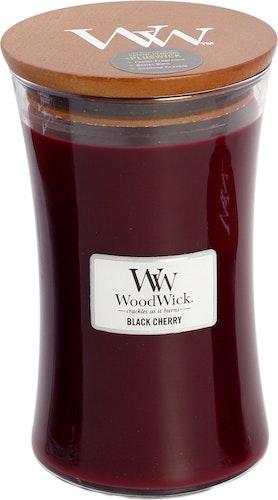 WoodWick - Black Cherry - Stort Doftljus