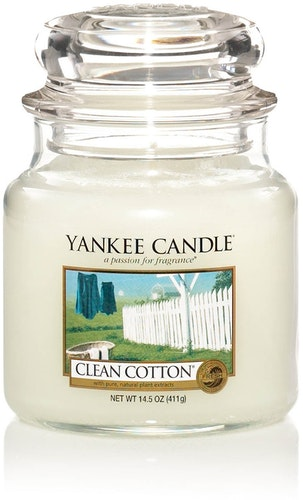 Yankee Candle - Classic cotton - Medium doftljus