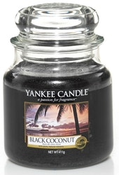 YANKEE CANDLE - BLACK COCONUT - MEDIUM DOFTLJUS