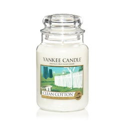 Yankee Candle - classic clean cotton - stort doftljus