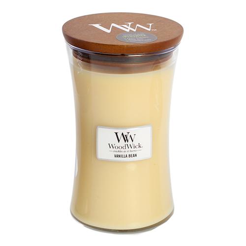 WoodWick - Vanilla Bean - Stort Doftljus