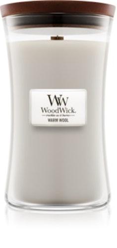 WoodWick - Warm Wool - Stort Doftljus