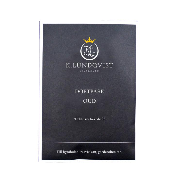 K. Lundqvist - Doftpåse OUD - Mysk, svart vanilj och oud