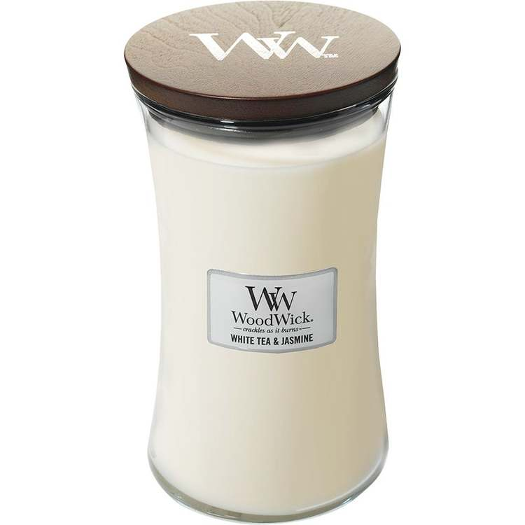 WoodWick - White tea & jasmine - Stort Doftljus