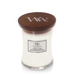 WoodWick Cocunut & Tonka Medium Doftljus