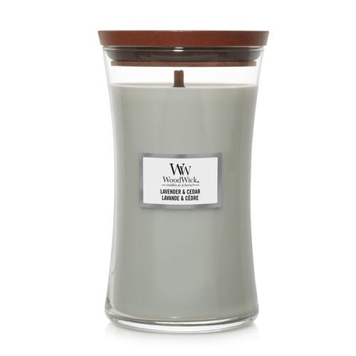 WoodWick Lavender & Cedar Stort Doftljus