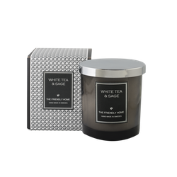 The Friendly Home - Smoke Elegance Doftljus - White Tea & Sage