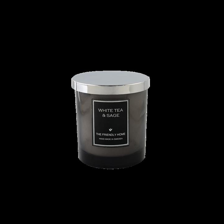 The Friendly Home - Smoke Elegance Doftljus - White Tea & Sage