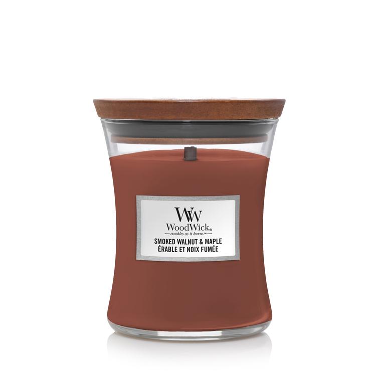 WoodWick Smoked Walnut & Maple Medium Doftljus