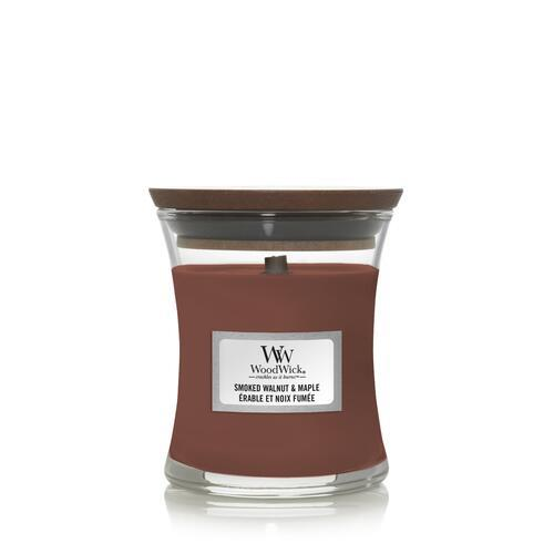 WoodWick - Smoked Walnut & Maple - Litet Doftljus