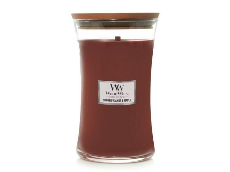 WoodWick Smoked Walnut & Maple Stort Doftljus