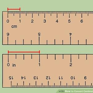 Omvandlingstabell från inch till centimeter