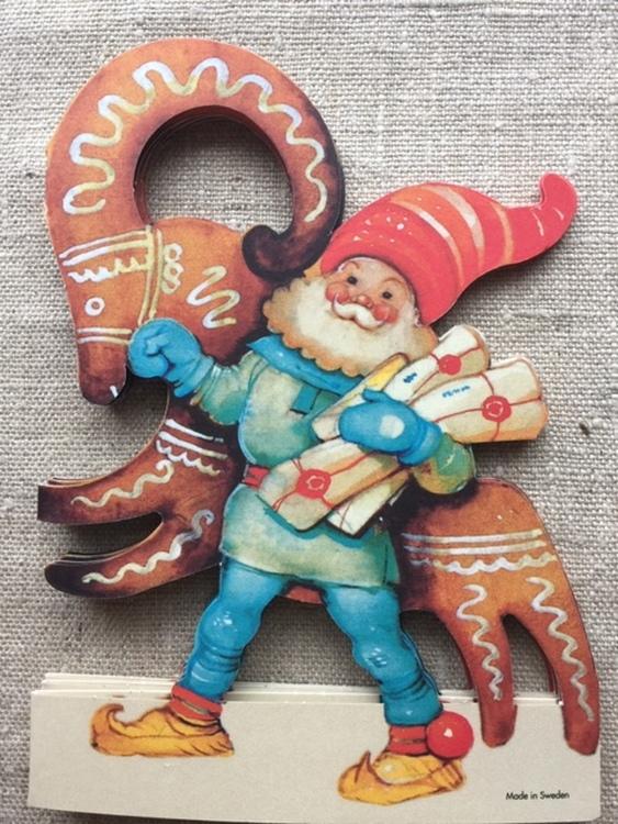 Vintage Julbock och Nisse