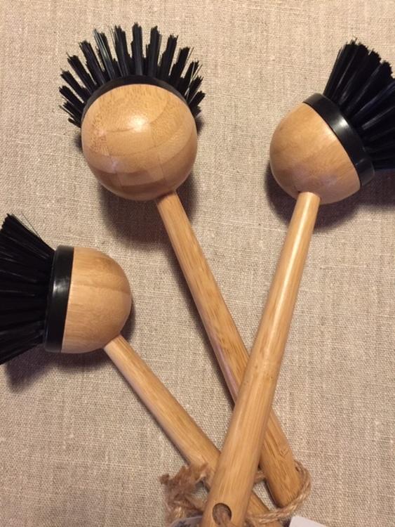 Diskborste i bambu