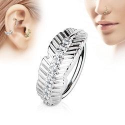 Piercing ring med löv