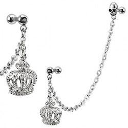 Två smycken i ett! Tragus/Helix med krona