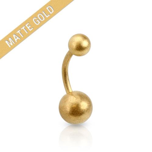 Navelpiercing i matt guld
