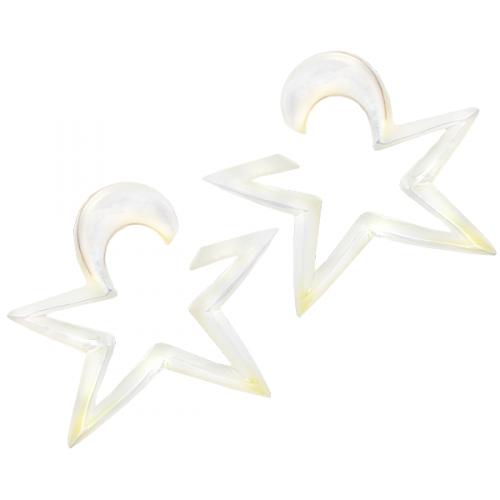 2-pack Mother of pearl stjärna