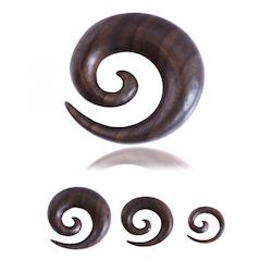 Tiki wood spiral