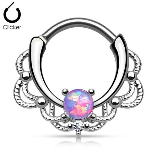 Septumring med ornament och opalsten
