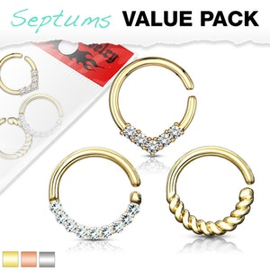 3 pack piercingringar