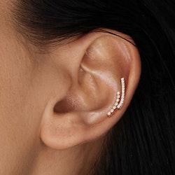 Labret piercing med två rader