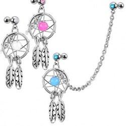 Smycke till öra med drömfångare
