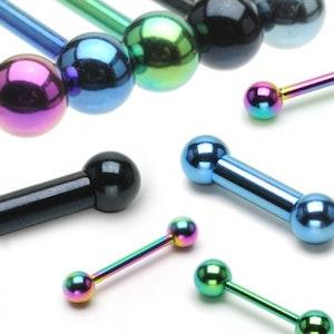 Färgad barbell med bollar