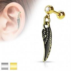 Tragus/Helix med ängla vinge