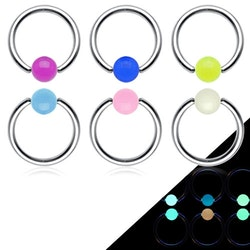 Glow in dark cbr piercing