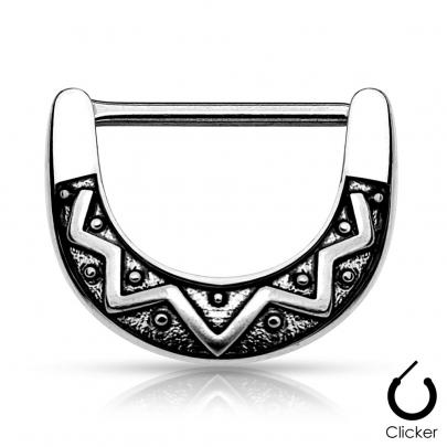 Septum/Bröst clicker med tribal mönster