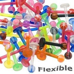 6st bioflex labret med boll