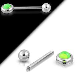 Tungpiercing med roterande boll