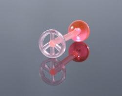 Rosa peace piercing till tunga
