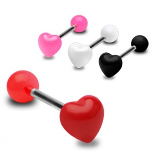Tungpiercing med hjärta