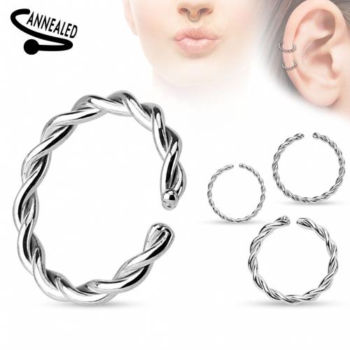 Fake piercing ring stål