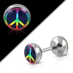 Fake plugg med Peace märke