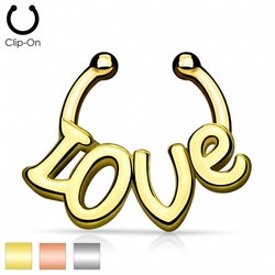 "Fake Septum clicker ""Love"""