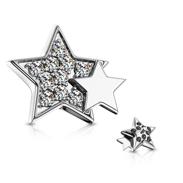 Dermaltopp med glitter stjärna