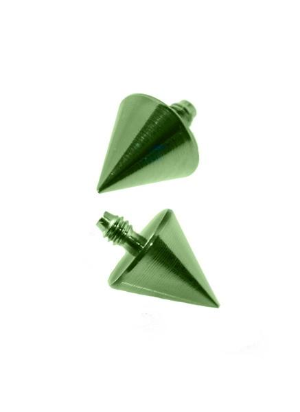 Dermal Anchor topp, grön kona
