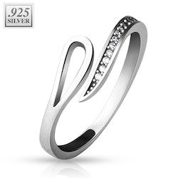 Justerbar ring i silver