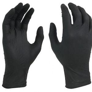 Svart nitril handske