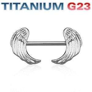Bröstsköld med vingar G23 titan