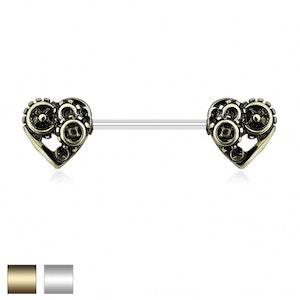 Bröstbarbell med kugghjulshjärta