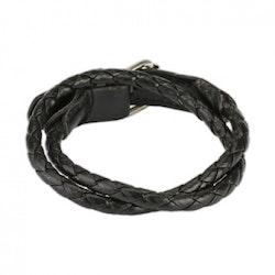 Armband flätat läder