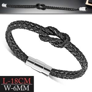 Armband i flätat läder