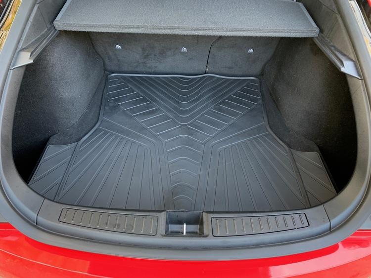 Bagagerumsmatta till Tesla Model S - ligger fint med riktigt bra passform