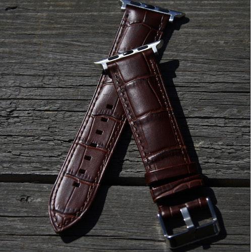 Apple Watch läderarmband - brunt